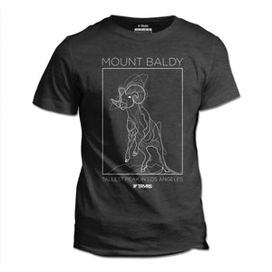 Mount Baldy Big Horn Tee V2 - DARK GREY HEATHER | TRVRS Outdoors, hiking apparel, san gabriel mountains, angeles national forest, trail running, mountaineering