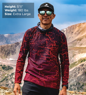 Sierra Nevada Map Men's Base Layer