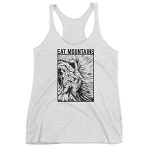 Eat Mountains Women's Racerback Triblend Tank - HEATHER WHITE | TRVRS APPAREL