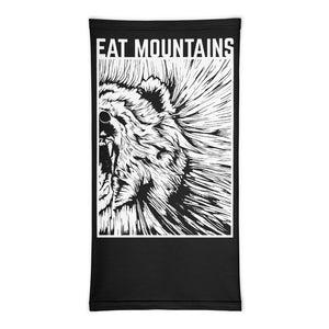 Front (no model)-Eat Mountains Neck Gaiter | TRVRS Outdoors hiking clothing trail running apparel