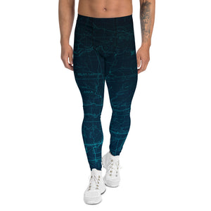 Glacier - San Gabriel Map Men's Performance Tights | TRVRS Outdoors Hiking Apparel, Trail Running Clothing