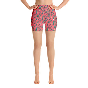 HIKER TRASH-All Over Print Women's Yoga Shorts | TRVRS Outdoors, Hiking, trail running, mountaineering apparel