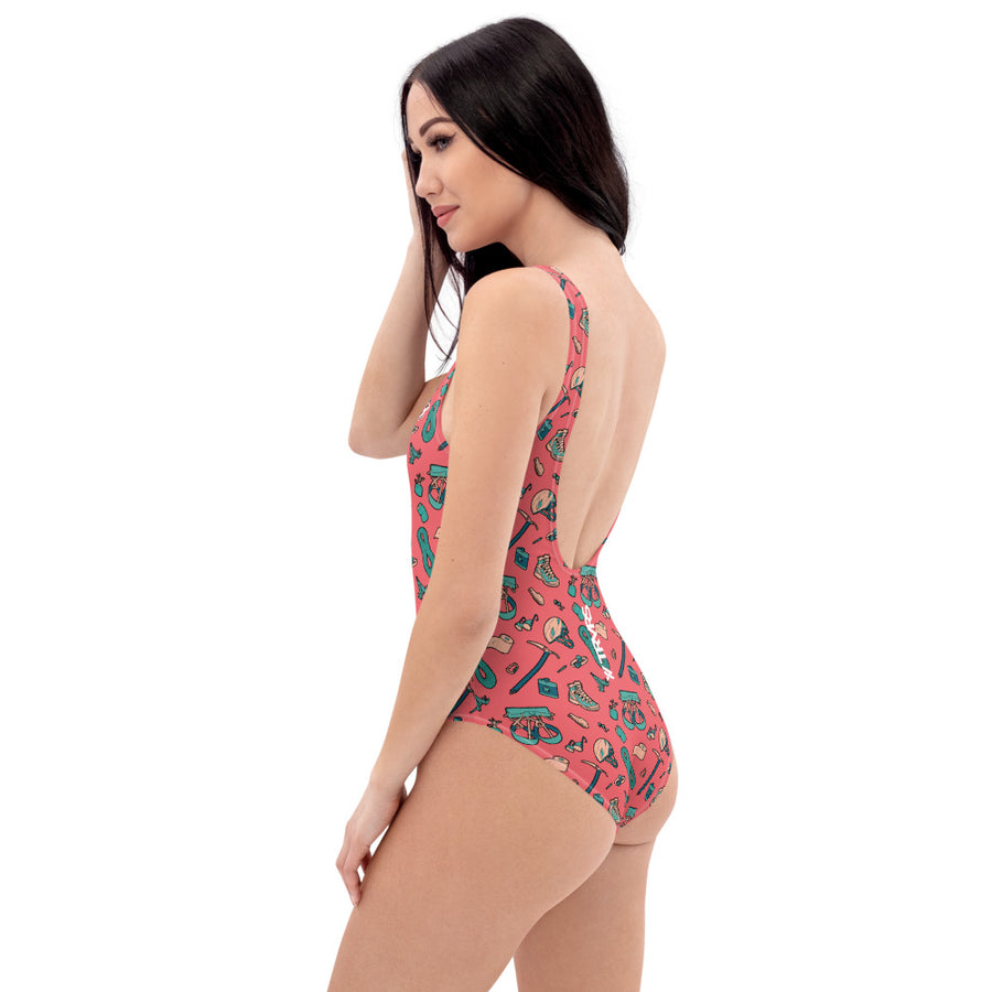 Hiker Trash One Piece Swimsuit (front) | TRVRS Outdoors  Hiking, Trail Running, Clothing, Apparel