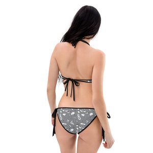Back, Hiker Trash Pattern Reversible Bikini - INSIDE | TRVRS Outdoors Hiking Apparel, Trail Running Apparel