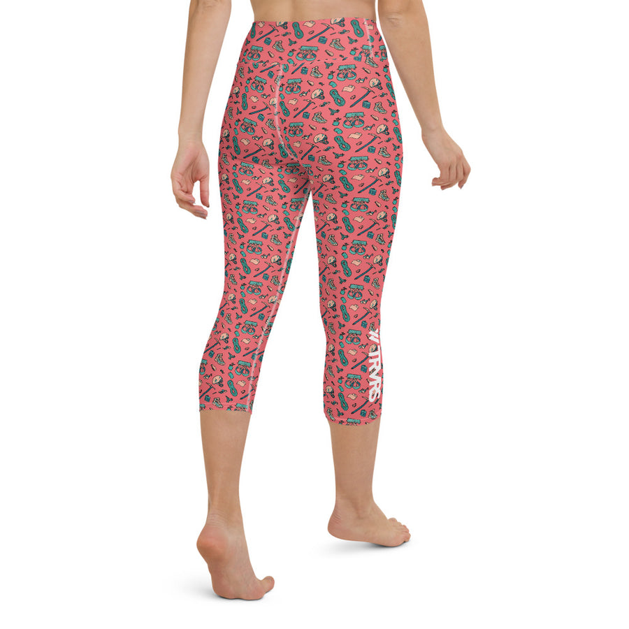 HIKER TRASH-All Over Print Women's Capri Leggings | TRVRS Outdoors, Hiking, trail running, mountaineering apparel