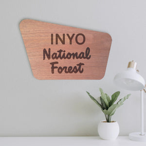 Inyo (living space mockup)- National Forest Sign