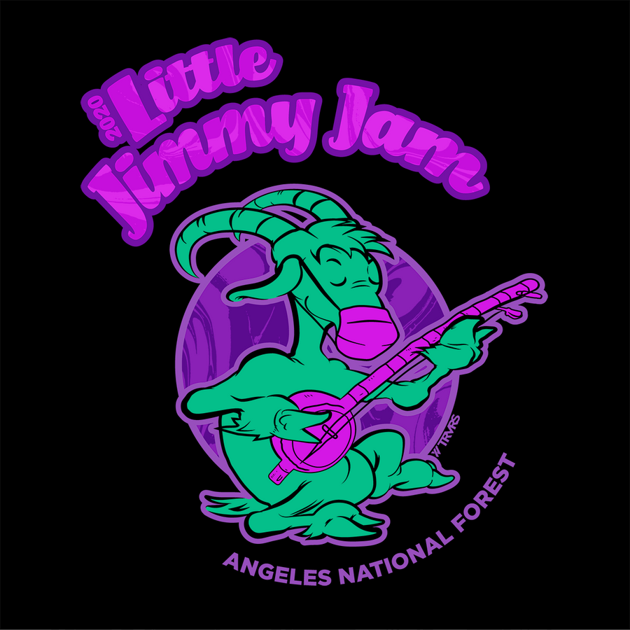 Little Jimmy Jam Tee - BLACK | TRVRS Outdoors (Angeles National Forest, San Gabriel Mountain Range)