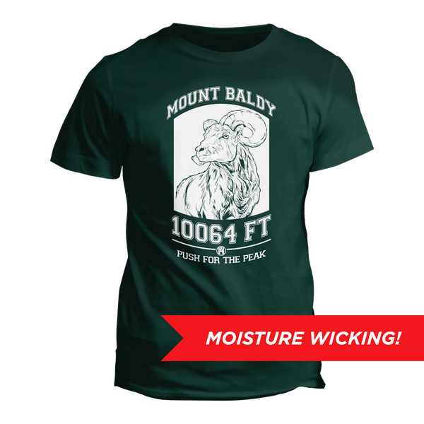 Mount Baldy Big Horn Performance Tee - DEEP FOREST | TRVRS APPAREL