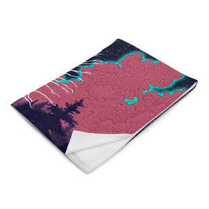 Folded- Mount Wilson Observatory Throw blanket