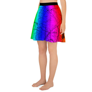 Rainbow, San Gabriel Map - All Over Print Hiking Skirt | TRVRS Outdoors Hiker Clothing, Trail Running Apparel