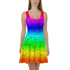 Rainbow, Sierra Nevada Map Hiking Dress | TRVRS Outdoors Hiking Apparel, Trail Running Clothing