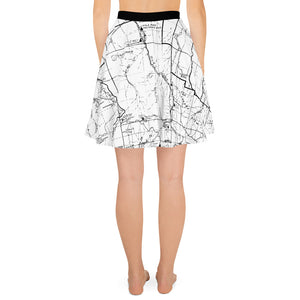 back, White, San Gabriel Map - All Over Print Hiking Skirt | TRVRS Outdoors Hiker Clothing, Trail Running Apparel