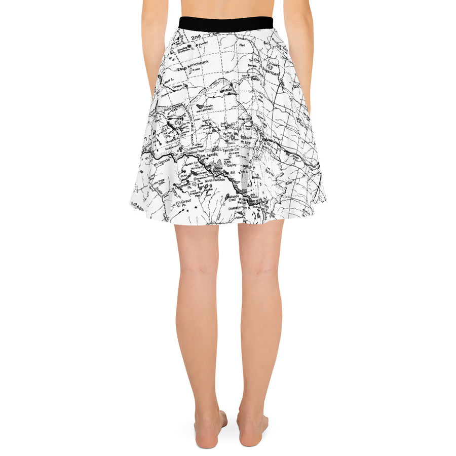 WHITE, Sierra Map - All Over Print Hiking Skirt | TRVRS Outdoors