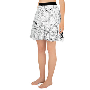 White, San Gabriel Map - All Over Print Hiking Skirt | TRVRS Outdoors Hiker Clothing, Trail Running Apparel