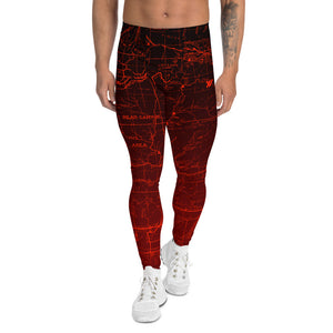 Wildfire - San Gabriel Map Men's Performance Tights | TRVRS Outdoors Hiking Apparel, Trail Running Clothing
