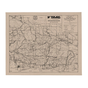 San Gabriel Map Throw Blanket - BEIGE