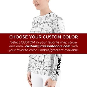Custom - All Over Print Women's Base Layer | TRVRS Outdoors Hiking Apparel, Trail Running Clothing