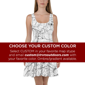 Custom Color, Sierra Nevada Map Hiking Dress | TRVRS Outdoors Hiking Apparel, Trail Running Clothing