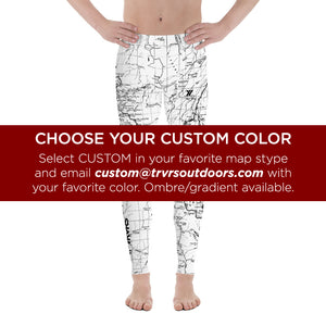 Custom - San Gabriel Map Men's Performance Tights | TRVRS Outdoors Hiking Apparel, Trail Running Clothing