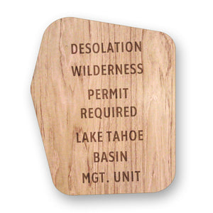 Wilderness Area Sign (14.5 x 11)