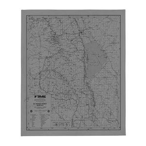 Sierra Nevada Map Throw Blanket - GRAY
