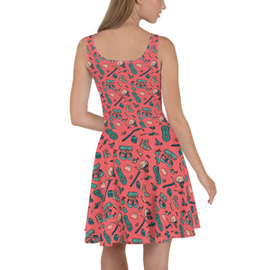 BACK- Hiker Trash Pattern - All Over Print Hiking Dress | TRVRS Outdoors Trail Running Clothing, Hiking Apparel