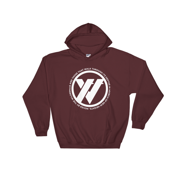 Insigna-slogan Hooded Sweatshirt - MAROON | TRVRS APPAREL