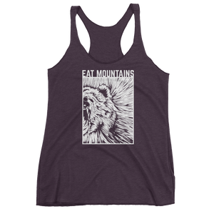 Eat Mountains Women's Racerback Triblend Tank - VINTAGE PURPLE | TRVRS APPAREL