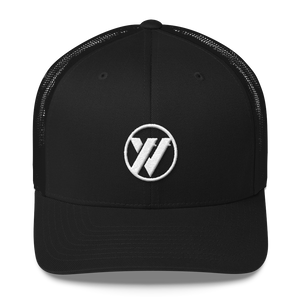 TRVRS Insignia Trucker Cap - ALL BLACK | TRVRS APPAREL