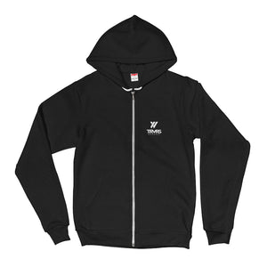 Insigna-slogan Hooded Zip-up | TRVRS APPAREL