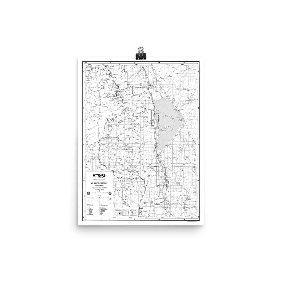 Mount Whitney District Map Poster