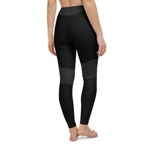 Topo Map Women's Yoga Leggings