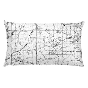 Angeles Forest Map Premium Throw Pillow (20x12) - WHITE | TRVRS APPAREL