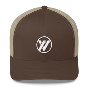 TRVRS Insignia Trucker Cap - BROWN/KHAKI | TRVRS APPAREL