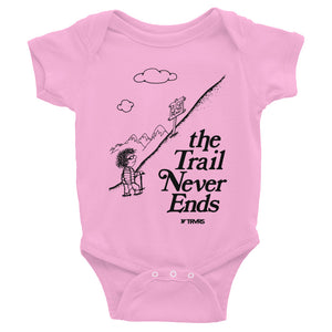 Trail Never Ends Infant Body Suit- PINK | TRVRS APPAREL