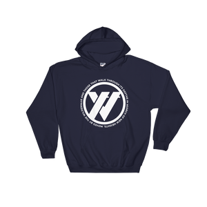 Insigna-slogan Hooded Sweatshirt - NAVY | TRVRS APPAREL