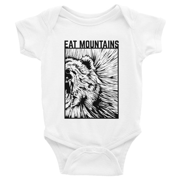 Eat Mountains Infant Body Suit - WHITE | TRVRS APPAREL
