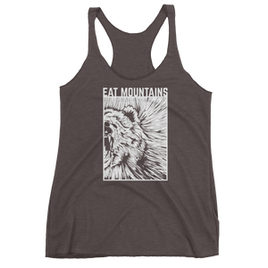 Eat Mountains Women's Racerback Triblend Tank - MACCHIATO | TRVRS APPAREL