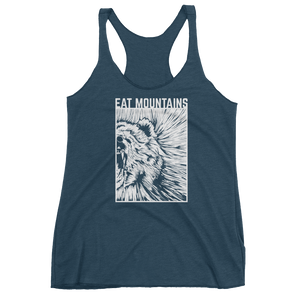 Eat Mountains Women's Racerback Triblend Tank - INDIGO | TRVRS APPAREL