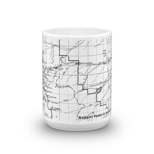 Mount Whitney Map Coffee Mug - 11oz (center) | TRVRS Apparel