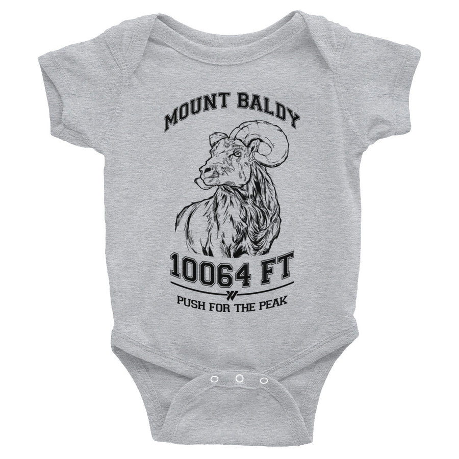Mt. Baldy Big Horn Infant Body Suit - BLACK | TRVRS APPAREL