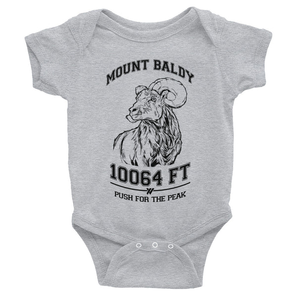 Mt. Baldy Big Horn Infant Body Suit - HEATHER | TRVRS APPAREL