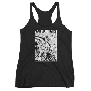 Eat Mountains Women's Racerback Triblend Tank - VINTAGE BLACK | TRVRS APPAREL