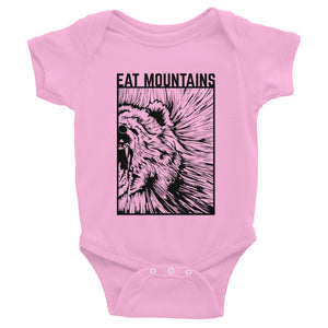 Eat Mountains Infant Body Suit - PINK | TRVRS APPAREL