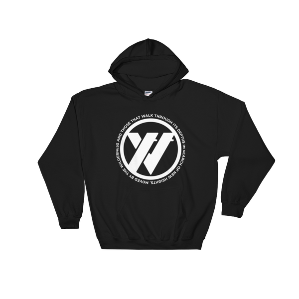 Insigna-slogan Hooded Sweatshirt - BLACK | TRVRS APPAREL