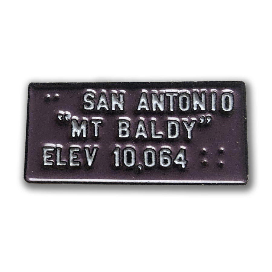 Mount Baldy Enamel Pin | TRVRS Apparel, San Gabriel Mountains, Angeles National Forest, Mount San Antonio