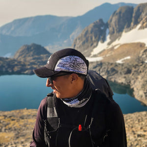 Sierra Nevada Map Running Cap -Profile