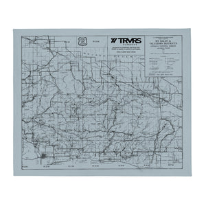 San Gabriel Map Throw Blanket - SMOKE BLUE
