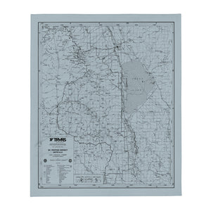 Sierra Nevada Map Throw Blanket - SMOKE BLUE