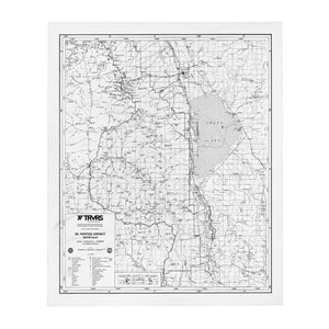 Sierra Nevada Map Throw Blanket - WHITE